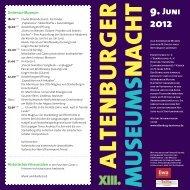 Programm - Altenburg Tourismus
