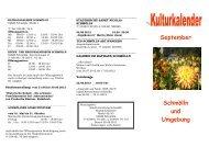 September Schmölln und Umgebung - Altenburg Tourismus
