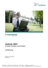 Outlook 2007: E-Mail-Konten einrichten