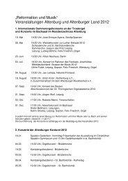 Reformation und Musik Veranstaltungen ... - Altenburg Tourismus