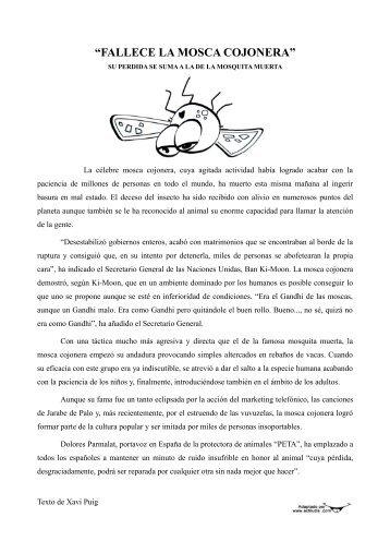 """FALLECE LA MOSCA COJONERA"" - Actiludis"
