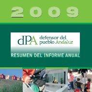 Resumen Informe anual - Defensor del Pueblo Andaluz