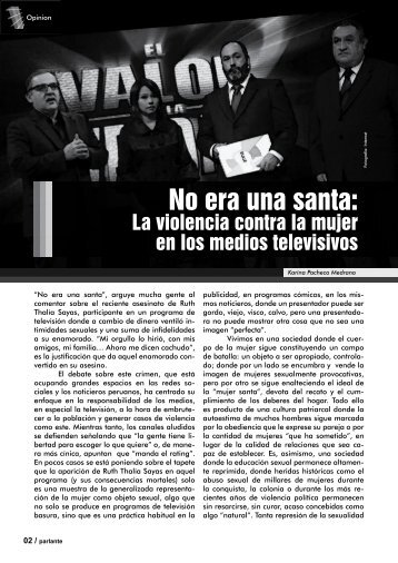 No era una santa: - Revista Virtual Parlante