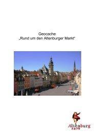 """Geocache """"Rund um den Altenburger Markt"""" - Altenburg Tourismus"""