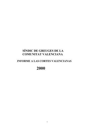 SÍNDIC DE GREUGES DE LA COMUNITAT VALENCIANA