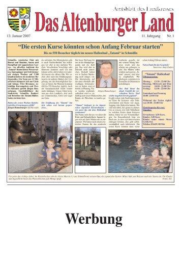 Amtsblatt Nr. 1 vom 13. Januar 2007 - Altenburger Land