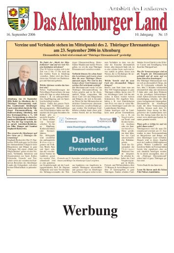 Amtsblatt Nr. 15 vom 16. September 2006 - Altenburger Land