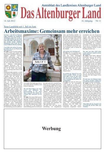 Öffentliche Bekanntmachung - Altenburger Land