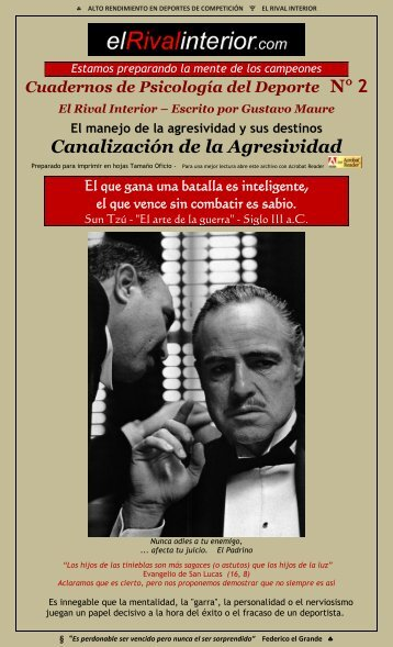 Cuaderno N° 2 Canalización de la Agresividad - El Rival Interior