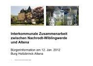 Interkommunale Zusammenarbeit zwischen Nachrodt ... - Stadt Altena