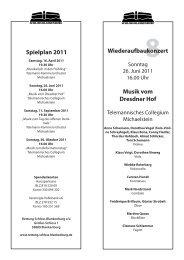 Musik vom Dresdner Hof - Großes Schloss Blankenburg