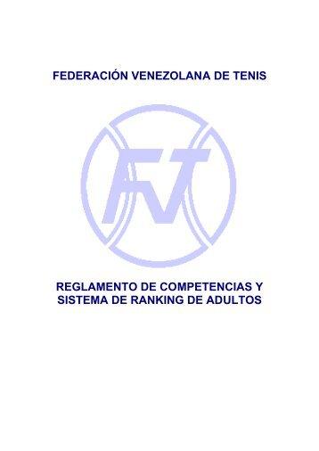 Reglamento de Adultos - Federación Venezolana de Tenis