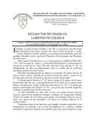 ESCLAVITUD PSICOLOGICA LIBERTAD PSICOLOGIA - ACEGAP