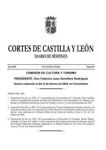Don Federico Juan Sumillera Rodríguez - Cortes de Castilla y León