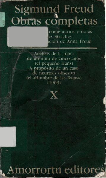 Análisis de la fobia de un niño de cinco años (el pequeño Hans) / A ...