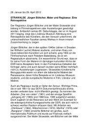STRAWALDE Jürgen Böttcher. Maler und ... - Altenburg Tourismus