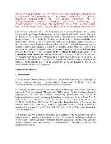 leyfederaltelecomunicacionescontenidosaudiovisuales - Sin Embargo