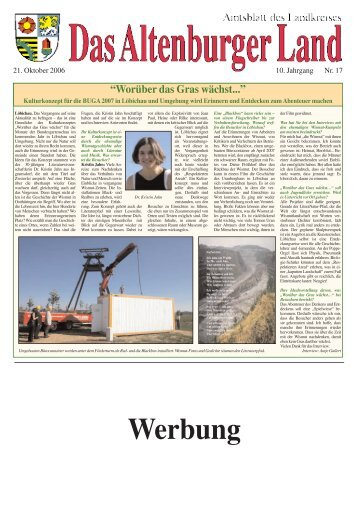 Amtsblatt Nr. 17 vom 21. Oktober 2006 - Altenburger Land