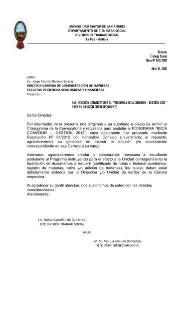 requisitos para beca comedor - Administración de Empresas