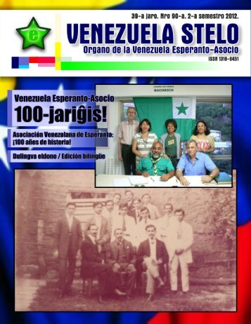 Venezuela Stelo N-ro 90 - Esperanto-Venezuela | Esperanto en ...