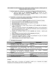 PROCEDIMENTOS NECESSÁRIOS PARA APROVAÇÃO DE ... - UPE