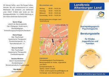 Flyer Erziehungsberatung 2008 - Altenburger Land