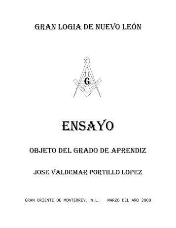 objeto del grado de aprendiz - José Valdemar Portillo Lopez