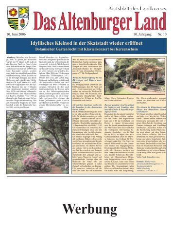 Amtsblatt Nr. 10 vom 10. Juni 2006 - Altenburger Land