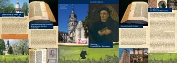 Reformation in Altenburg - Altenburg Tourismus