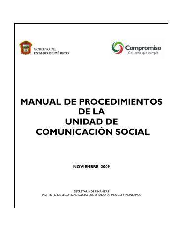 manual de procedimientos de la unidad de comunicación social