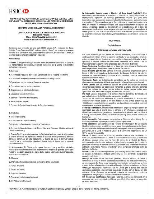 Contrato Hsbc