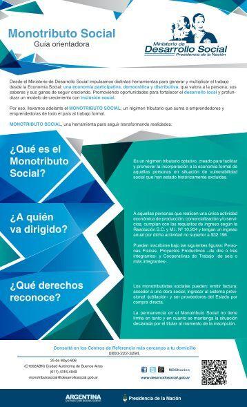 Monotributo Social - Ministerio de Desarrollo Social