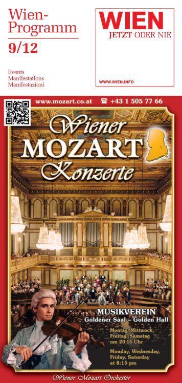 Wien- Programm 9/12 - Vienna