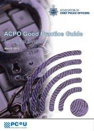 ACPO Good Practice Guide