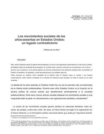 Los movimientos sociales de los a sesentas - Revista Sociológica
