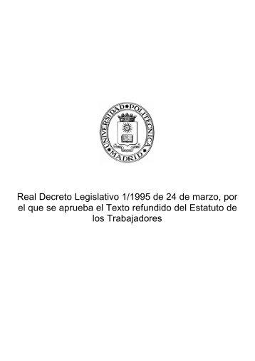 Real Decreto Legislativo 1/1995 de 24 de marzo, por el que se ...