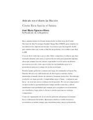 Costa Rica hacia el futuro - José María Figueres Olsen