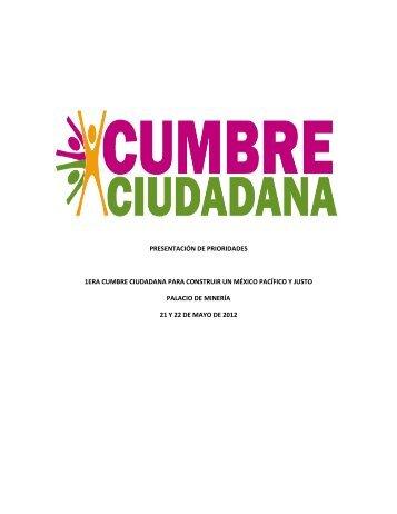 Cumbre Ciudadana - Cultura de la Legalidad. Cultura de la Legalidad
