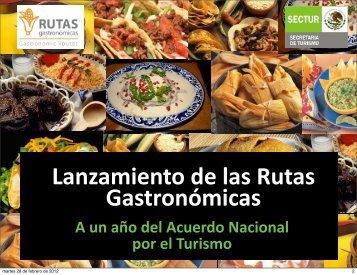 Lanzamiento de las Rutas Gastronómicas - Sectur