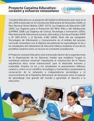 Proyecto Canaima Educativo - Ministerio del Poder Popular para la ...
