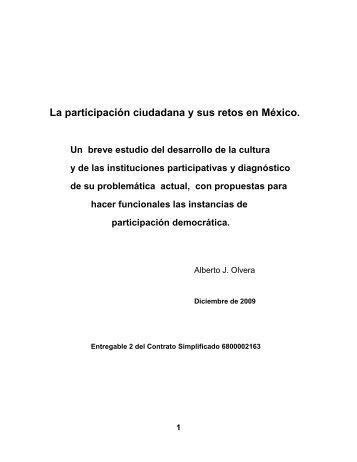 La participación ciudadana y sus retos en México. - Secretaría de ...