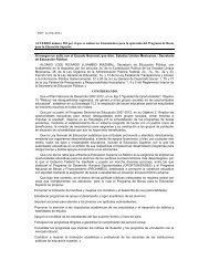 Lineamientos para el Programa de Becas para la Educación Superior