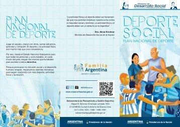 Triptico - Deporte Social - web - Ministerio de Desarrollo Social