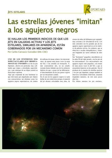 """Las estrellas jóvenes """"imitan"""" a los agujeros negros. - Revista IAA"""