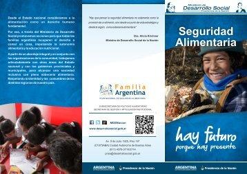 Seguridad alimentaria - Ministerio de Desarrollo Social