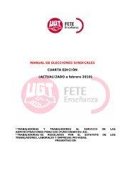 MANUAL DE ELECCIONES SINDICALES CUARTA ... - FETE-UGT