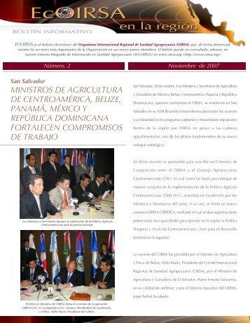 ministros de agricultura de centroamérica, belize, panamá ... - oirsa