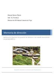 Memoria de obxectivos - Buscador de Centros educativos.