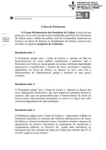 _ _ PARLAMENTO DE GALICIA REXISTRO XERAL ENTRADA