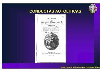 CONDUCTAS AUTOLÍTICAS